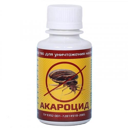 Акароцид средство от клопов, тараканов, муравьев, блох, мух, комаров, ос, клещей 100мл