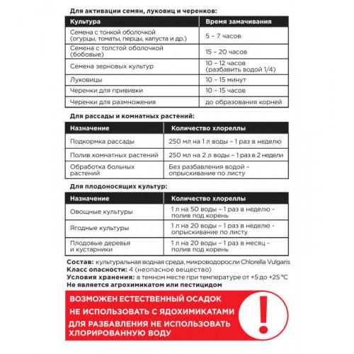 Органическое удобрение Суспензия Хлореллы, 1л