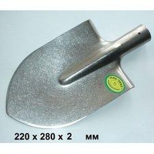Большая штыковая титановая лопата 22х28х2мм