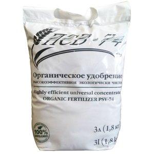 Органическое удобрение ПСВ-74 для овощей, цветов, плодово-ягодных деревьев, газона, 3 л (1.8 кг)