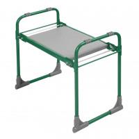 Садовая складная скамейка перевертыш с мягким сиденьем Nika (Ника), зеленая