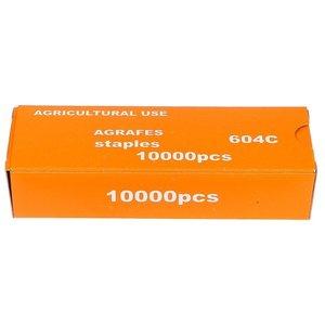 Скобы для степлера подвязочного, 604C, 1000 шт.