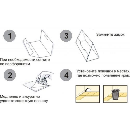 Форс-сайт клевая ловушка-контейнер для крыс, 5 шт