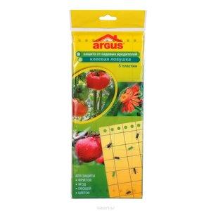 Argus garden клеевая (подвесная) ловушка от садовых вредителей, 5 пластин
