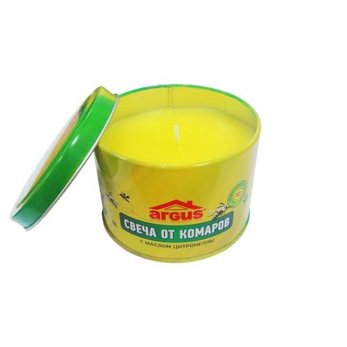 Свеча от комаров, с натуральным маслом цитронеллы 10 часов горения, ARGUS GARDEN
