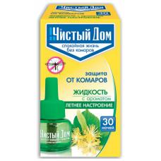 Жидкость от комаров Чистый дом 30 Ночей, с ароматом летнее настроение