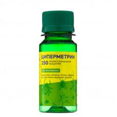 Циперметрин 250 Средство от насекомых клопов, клещей, комаров, тараканов, ос, мух, 50 мл