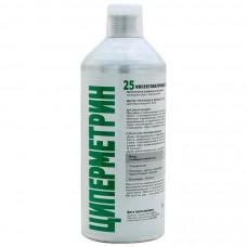 Циперметрин 25 средство от насекомых (клопов, тараканов, клещей, ос, мух, комаров), 1л