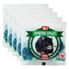 """Приманка для борьбы с крысами """"Против крыс"""" (тесто-брикеты), 5 шт. по 100 гр."""