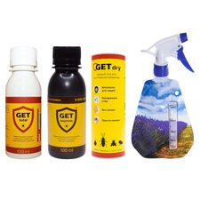 Эффективный комплект №2 средств от клопов, тараканов Get Total + Get Express + Get Dry + распылитель