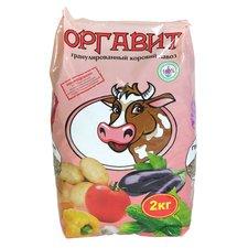 Гранулированный коровий навоз Оргавит, 2 кг