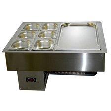 Салат-бар (Мармита) охлаждаемый 0.7х0.59м (2 больших Гастроемкости)