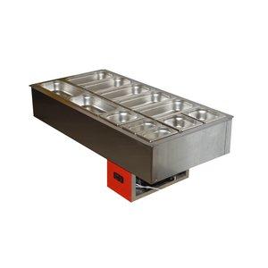 Салат-бар (Мармита) охлаждаемый 1.865х0.59м (5.5 больших гастроемкости)