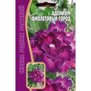 Семена цветов Адениум Фиолетовый город, 3 сем.