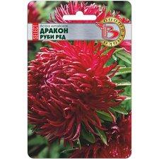 Семена цветов Астра китайская Дракон SELECT Руби Ред, 40 сем.