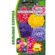 Семена цветов Астра Королевский Размер смесь, 300 сем.