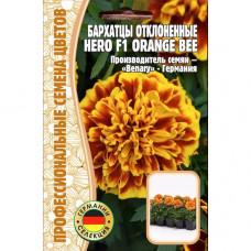 Семена Цветов Бархатцы отклоненные Hero F1 ORANGE BEE, 10 сем.