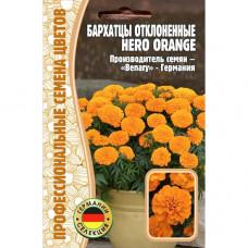 Семена Цветов Бархатцы отклоненные HERO ORANGE, 10 сем