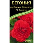 Семена цветов Бегония клубневая Империал F1 Скарлет, 10 сем.