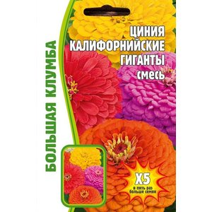 Семена цветов Циния Калифорнийские гиганты, 2гр.
