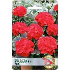 Семена цветов Пеларгония Буллз Ай F1 Ред, 5 сем.