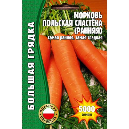 Семена морковь Польская сластёна, 5000 сем.