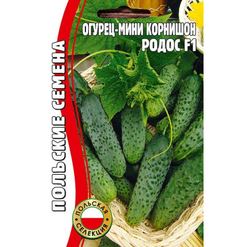 Семена мини корнишон Огурец Родос F1, 15 сем.