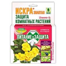 Защита комнатных растений Искра Золотая от тли, долгоносика, щитовки. 10 палочек