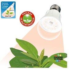 Светодиодная фито лампа полного спектра Uniel для растений LED-A60-10W/SPFR/E27/CL