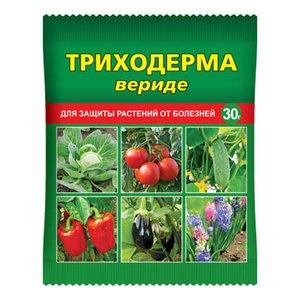 Триходерма вериде — биопрепарат для защиты растений от болезней, 30 г