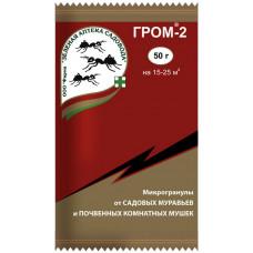 ГРОМ-2 - био средство для борьбы с муравьями и почвенными мошками в цветах, 50гр.
