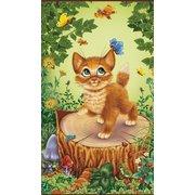 Гибкий пленочный обогреватель, картина Котёнок цветной