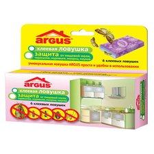 Защита от пищевой моли, тараканов, муравьев, мокриц, пауков Argus, 6 шт